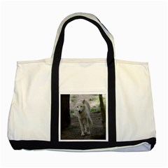 White Wolf Two Tone Tote Bag