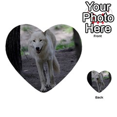 White Wolf Multi-purpose Cards (Heart)