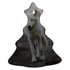 White Wolf Christmas Tree Ornament (2 Sides)