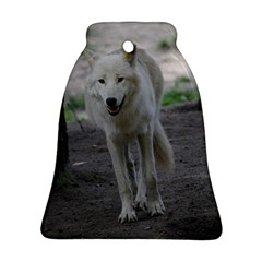 White Wolf Bell Ornament (2 Sides)