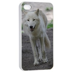 White Wolf Apple Iphone 4/4s Seamless Case (white)