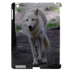 White Wolf Apple iPad 3/4 Hardshell Case (Compatible with Smart Cover)