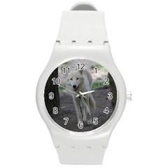 White Wolf Round Plastic Sport Watch (M)