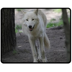 White Wolf Double Sided Fleece Blanket (medium)