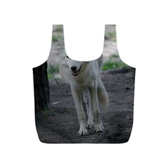White Wolf Full Print Recycle Bags (S)