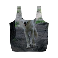 White Wolf Full Print Recycle Bags (M)