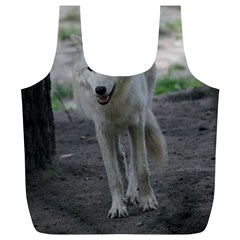 White Wolf Full Print Recycle Bags (L)