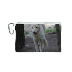 White Wolf Canvas Cosmetic Bag (S)