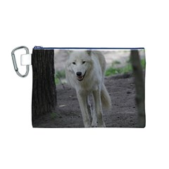 White Wolf Canvas Cosmetic Bag (M)