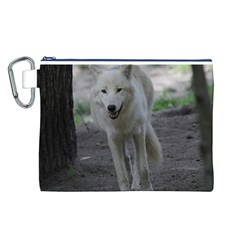 White Wolf Canvas Cosmetic Bag (L)