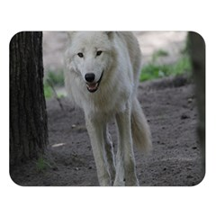 White Wolf Double Sided Flano Blanket (large)