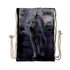 White Wolf Drawstring Bag (Small)