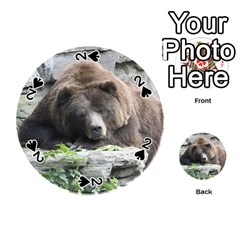 Tired Bear Playing Cards 54 (Round)