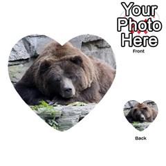 Tired Bear Multi-purpose Cards (Heart)