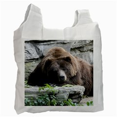 Tired Bear Recycle Bag (One Side)