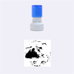 Tired Bear Rubber Round Stamps (Small)