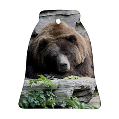 Tired Bear Bell Ornament (2 Sides)