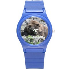 Tired Bear Round Plastic Sport Watch (S)