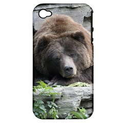Tired Bear Apple iPhone 4/4S Hardshell Case (PC+Silicone)