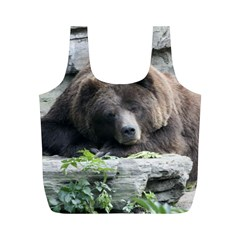 Tired Bear Full Print Recycle Bags (M)