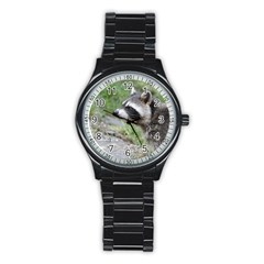 Racoon 1115 Stainless Steel Round Watches
