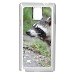 Racoon 1115 Samsung Galaxy Note 4 Case (White)