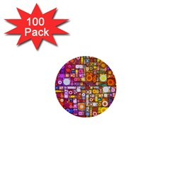 Circles City 1  Mini Buttons (100 pack)