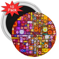 Circles City 3  Magnets (10 Pack)