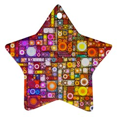 Circles City Star Ornament (Two Sides)