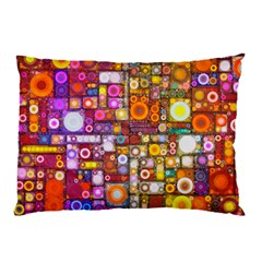 Circles City Pillow Cases (Two Sides)
