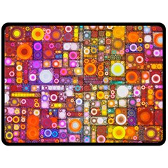 Circles City Double Sided Fleece Blanket (Large)