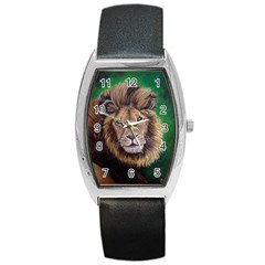 Lion Barrel Metal Watches