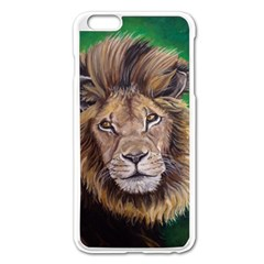 Lion Apple Iphone 6 Plus/6s Plus Enamel White Case
