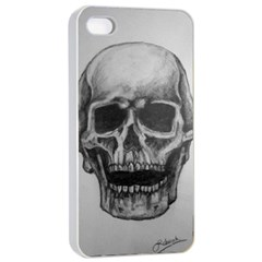 Skull Apple iPhone 4/4s Seamless Case (White)