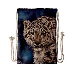 Snow Leopard Drawstring Bag (Small)