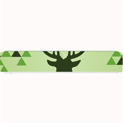 Modern Geometric Black And Green Christmas Deer Small Bar Mats