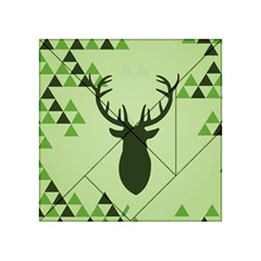 Modern Geometric Black And Green Christmas Deer Acrylic Tangram Puzzle (4  x 4 )
