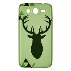 Modern Geometric Black And Green Christmas Deer Samsung Galaxy Mega 5.8 I9152 Hardshell Case