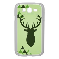 Modern Geometric Black And Green Christmas Deer Samsung Galaxy Grand DUOS I9082 Case (White)