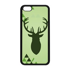 Modern Geometric Black And Green Christmas Deer Apple iPhone 5C Seamless Case (Black)