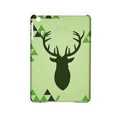 Modern Geometric Black And Green Christmas Deer Ipad Mini 2 Hardshell Cases