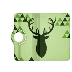 Modern Geometric Black And Green Christmas Deer Kindle Fire HDX 8.9  Flip 360 Case