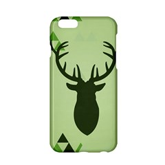 Modern Geometric Black And Green Christmas Deer Apple iPhone 6/6S Hardshell Case