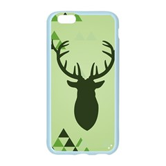 Modern Geometric Black And Green Christmas Deer Apple Seamless iPhone 6/6S Case (Color)