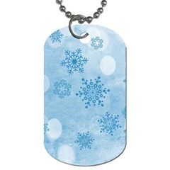 Winter Bokeh Blue Dog Tag (Two Sides)