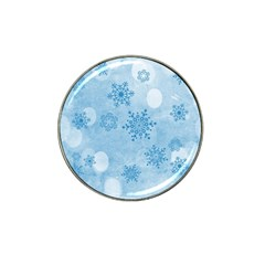 Winter Bokeh Blue Hat Clip Ball Marker (4 pack)