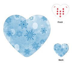 Winter Bokeh Blue Playing Cards (Heart)