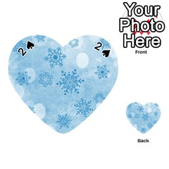 Winter Bokeh Blue Playing Cards 54 (heart)