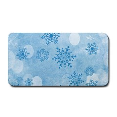 Winter Bokeh Blue Medium Bar Mats