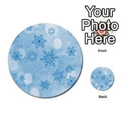 Winter Bokeh Blue Multi-purpose Cards (Round)